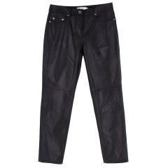 Coach Five Pocket Leather Jeans 4
