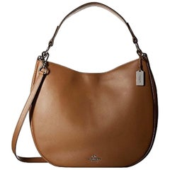 Coach Glovetanned 36026SVSD Beige Tan Leather Calf Nomad Hobo Ladies Handbag