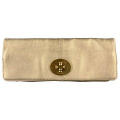 COACH Gold Leather Clutch Purse