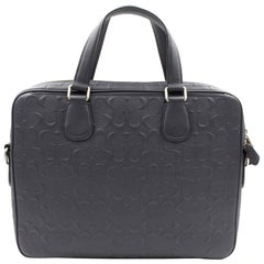 Coach Hudson 5 Signature Leather Midnight/Silver Man's Bag 54932