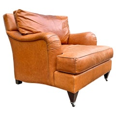 Coach Leather English Roll Armchair