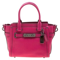 Coach Magenta Leather Swagger 20 Tote