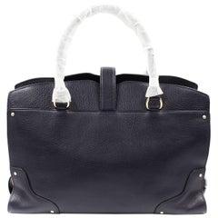 Coach Mercer Satchel Grain Leather Navy Blue WOmens Bag 37167LINAV