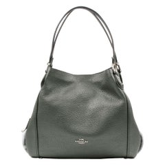 Coach Metallic Leather Graphite Women's Handbag Edie 31 87399