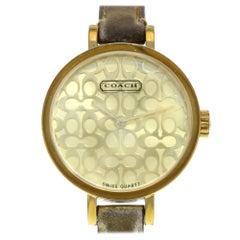 Coach Miranda Signature Dial Gold Tone Steel Leather Ladies Watch 14501068