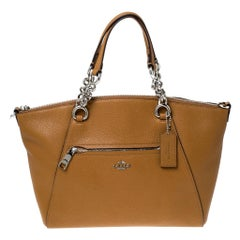 Coach Mustard Leather Kelsey Small Satchel