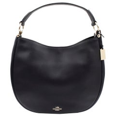 Coach Nomad Hobo Glovetanned Leather Bag 36026 Black