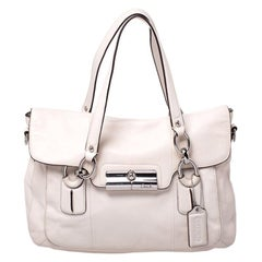 Coach Off White Leather Kristin Spectator Satchel