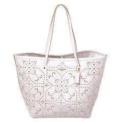 Coach Off White Studded Leather Street Tote