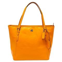 Coach Orange Leather Peyton Zip Tote