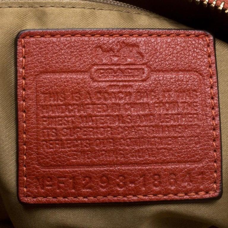 Coach Orange Leather Satchel For Sale 5