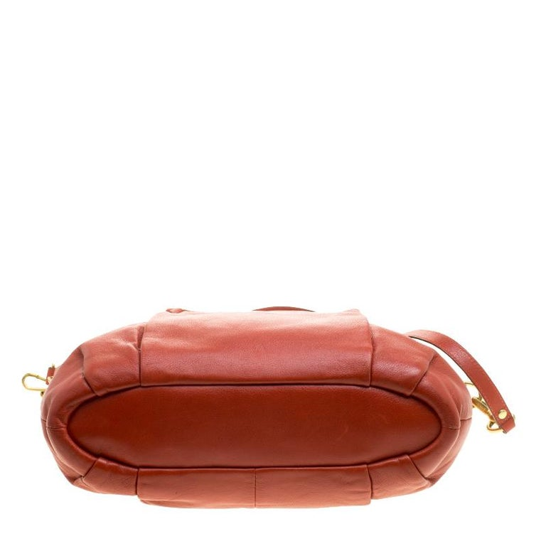 Women's Coach Orange Leather Satchel For Sale