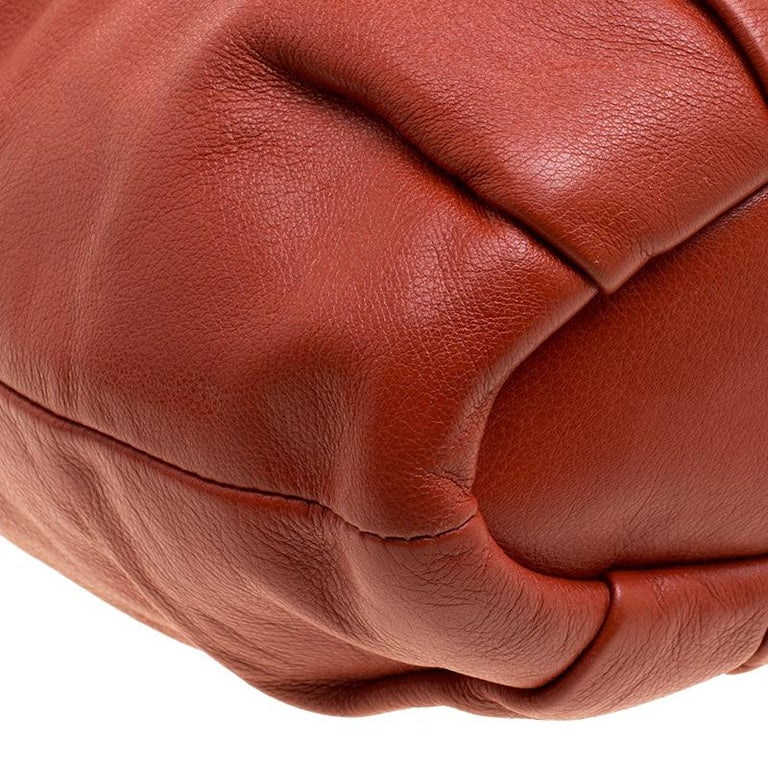 Coach Orange Leather Satchel For Sale 1