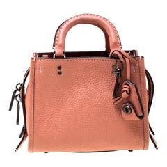 Coach Peach Leather Crossbody Bag