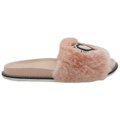Coach Pink x Keith Haring Fur Slides