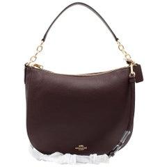 Coach Polished Pebbled Leather Chelsea 32 Burgundy Women's Handbag 58036
