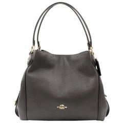 Coach Polished Pebbled Leather Light Gold/Chestnut Edie 31 Shoulder Bag 57125