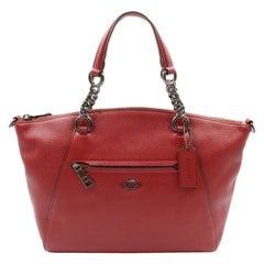 Coach Prairie Satchel Burgundy Women's Handbag 59501