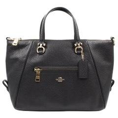 Coach Primrose Black Pebble Leather Ladies Satchel Handbag 37934BLK