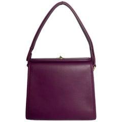 Coach Purple Leather The Originals Turnlock Convertible Shoulder Bag rt. $395