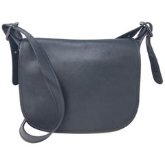 Coach Saddle Bag Glovetanned Leather Nickle Black 55298 Women's Bag