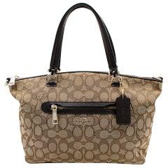Coach Signature Prairie Satchel Li/Khaki/Brown Women's Handbag 58875 LIC7C