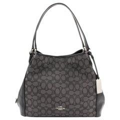 Coach Silver/Black Signature Edie 31 Women's Shoulder Bag 57933-SVDK6