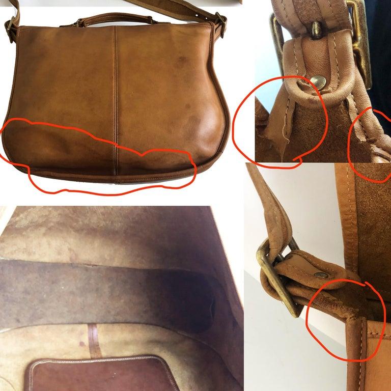 Coach Swag Bag Bonnie Cashin Large Leather Messenger Vintage 60s NYC Bag Rare  For Sale 6