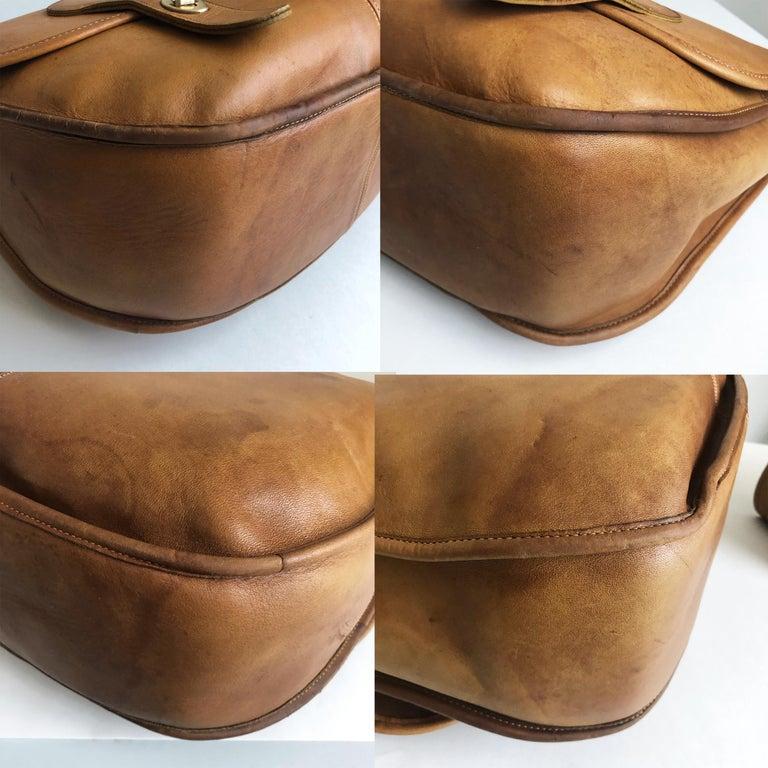 Coach Swag Bag Bonnie Cashin Large Leather Messenger Vintage 60s NYC Bag Rare  For Sale 7