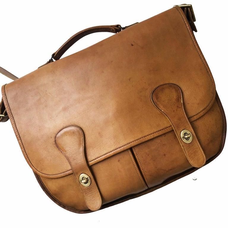 Coach Swag Bag Bonnie Cashin Large Leather Messenger Vintage 60s NYC Bag Rare  For Sale 1