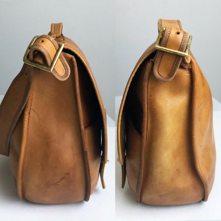 Coach Swag Bag Bonnie Cashin Large Leather Messenger Vintage 60s NYC Bag Rare  For Sale 2