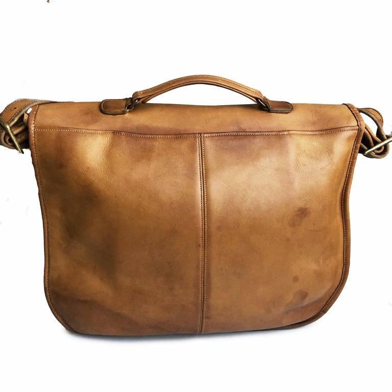 Coach Swag Bag Bonnie Cashin Large Leather Messenger Vintage 60s NYC Bag Rare  For Sale 3