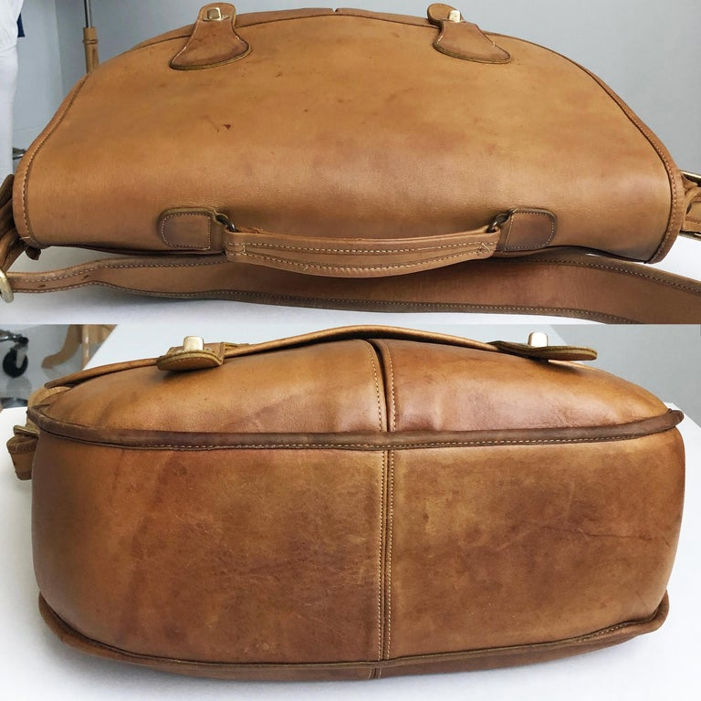 Coach Swag Bag Bonnie Cashin Large Leather Messenger Vintage 60s NYC Bag Rare  For Sale 4