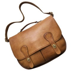 Coach Swag Bag Bonnie Cashin Large Leather Messenger Vintage 60s NYC Bag Rare