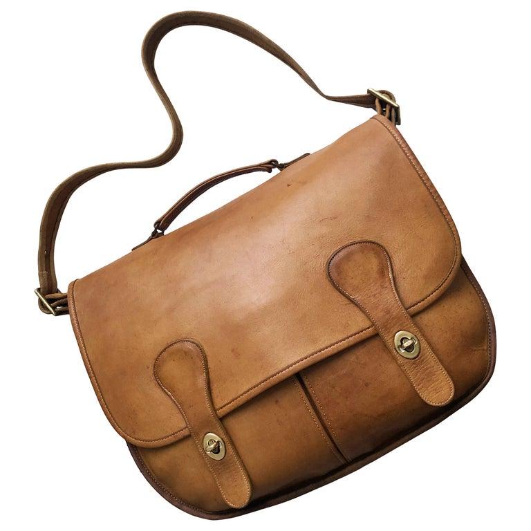 Coach Swag Bag Bonnie Cashin Large Leather Messenger Vintage 60s NYC Bag Rare  For Sale
