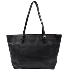 Coach Turnlock Crossgrain Leather Black Tote Ladies Bag 37142