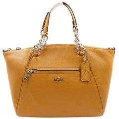 Coach Women's Polished Almond Pebbled Leather Chain Prairie Bag 59501 SV/QD