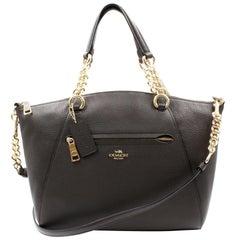 Coach Womens Polished Pebble Li/Chestnut Leather Chain Prairie Satchel 59501