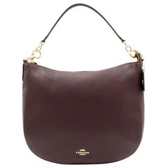 Coach Womens Polished Pebbled Oxblood Leather Chelsea 32 Hobo Bag 58036
