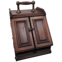 Coal Bucket Walnut Victorian, 19th Century