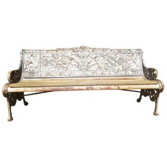 Coalbrookdale Aesthetic Movement Cast Iron Garden Bench, circa 1866