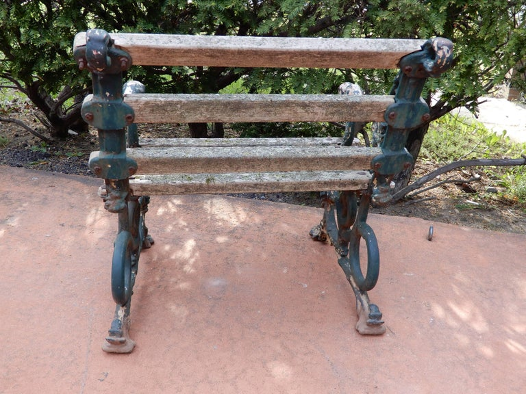 Late 19th Century Coalbrookdale Antique Cast Iron Garden Chair For Sale