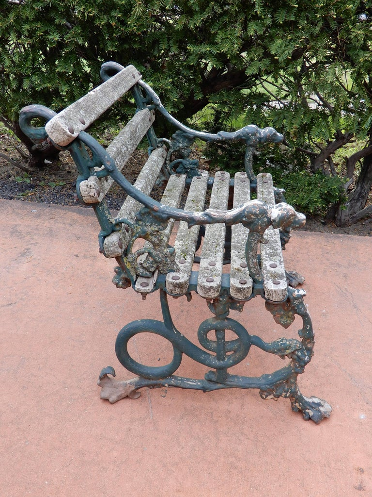 Coalbrookdale Antique Cast Iron Garden Chair For Sale 2