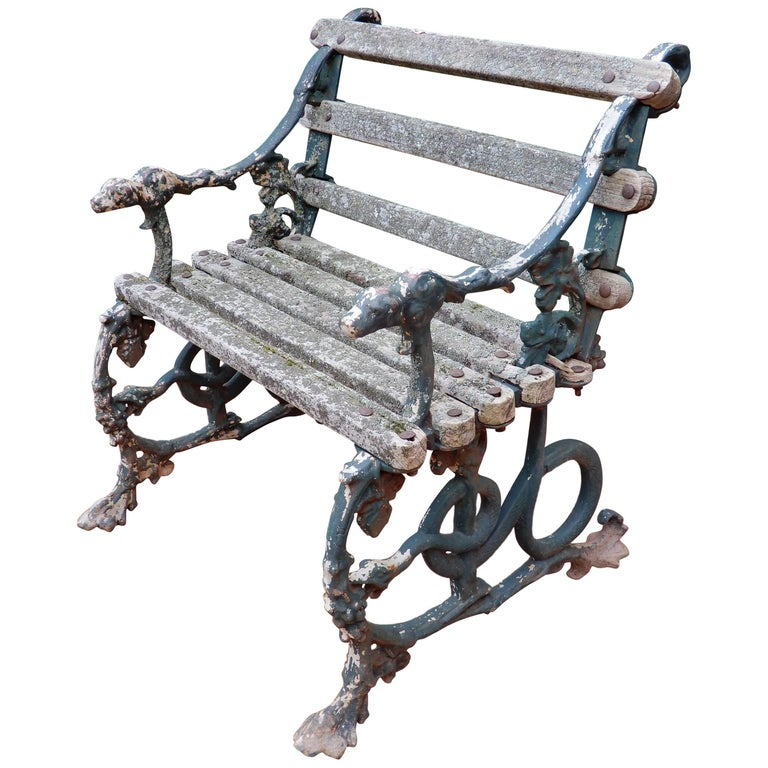 Coalbrookdale Antique Cast Iron Garden Chair For Sale