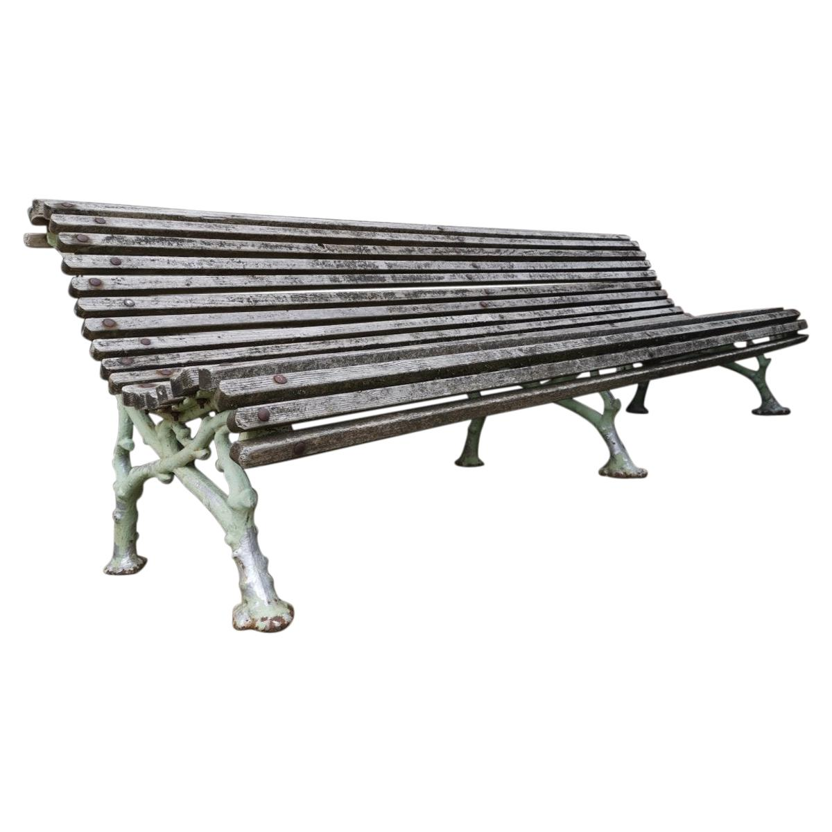 Coalbrookdale Cast Iron Garden Bench in the Style of Organic Naturistic Branches