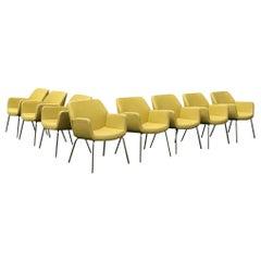 Coalesse Bindu Dining Chairs Designed by Brian Kane Set of Eight Midcentury
