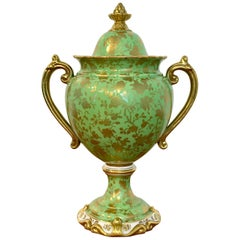 Coalport Covered Gilt Decorated Covered Urn