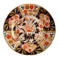 Coalport John Rose Dessert Plate, Japan Pattern with Birds, Regency, ca 1805