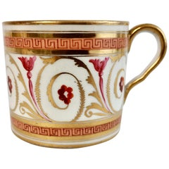 Coalport John Rose Orphaned Coffee Can, Peach, Gilt and Pink Regency, circa 1810