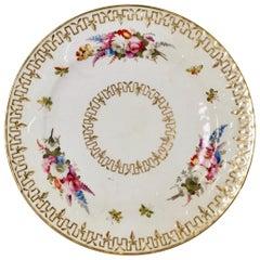 Coalport John Rose Plate, Flower Head Moulding, Regency, circa 1815